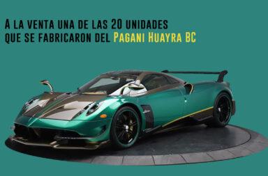 A la venta una de las 20 unidades que se fabricaron del Pagani Huayra BC