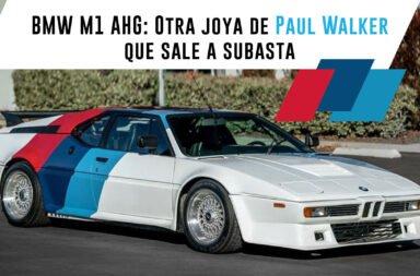 BMW M1 AHG: Otra joya de Paul Walker que sale a subasta
