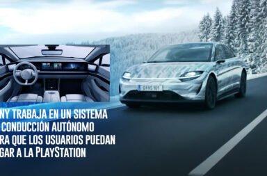 Sony trabaja en un sistema de conducción autónomo para que los usuarios puedan jugar a la PlayStation