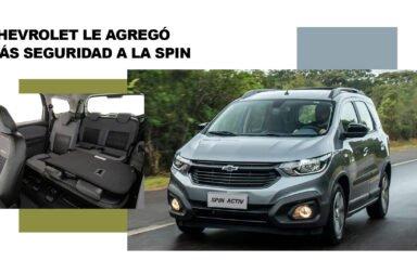 Chevrolet le agregó más seguridad a la Spin