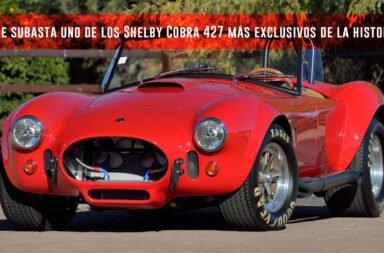 Se subasta uno de los Shelby Cobra 427 más exclusivos de la historia