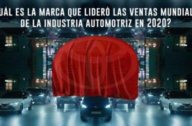 ¿Cuál es la marca que lideró las ventas mundiales de la industria automotriz en 2020?