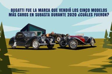 Bugatti fue la marca que vendió los cinco modelos más caros en subasta durante 2020 ¿Cuáles fueron?