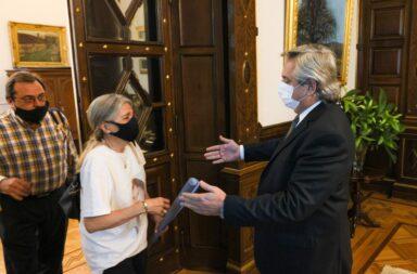 Alberto Fernández recibió a los padres de Ursula Bahillo la joven de 18 años víctima de femicidio en Rojas