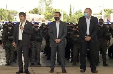 Berni, sobre los policías desplazados y la protesta de la bonaerense: