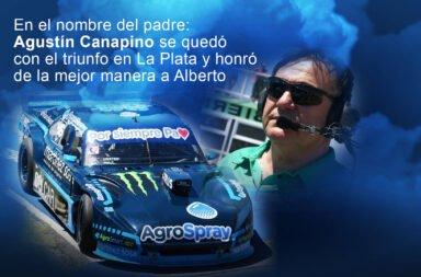 En el nombre del padre: Agustín Canapino se quedó con el triunfo en La Plata y honró de la mejor manera a su papá