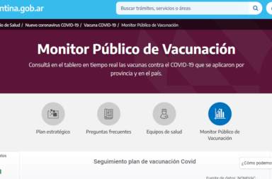 El Gobierno presentó el Monitor Público de Vacunación, para garantizar transparencia en el operativo de vacunación