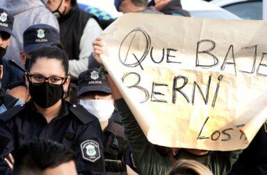 La Policía Bonaerense vuelve a movilizarse en reclamo de mejoras salariales