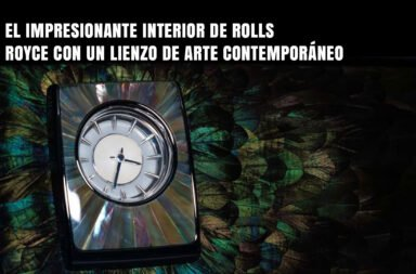 El impresionante interior de Rolls Royce con un lienzo de arte contemporáneo