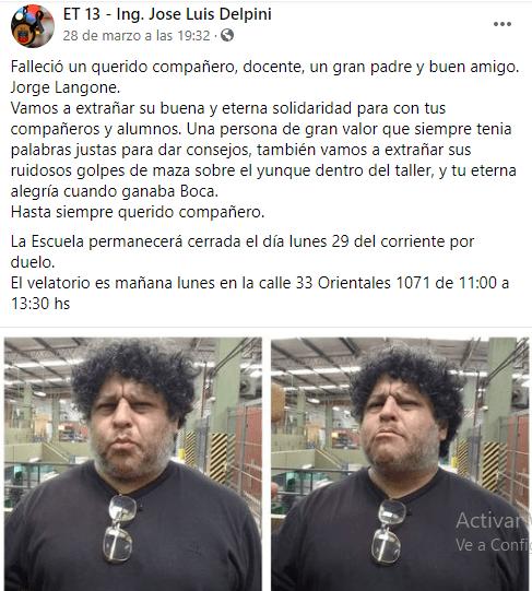docente porteño murió por coronavirus