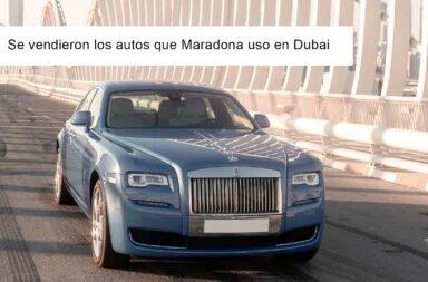 Se vendieron los autos que Maradona uso en Dubai ¿A cuánto?