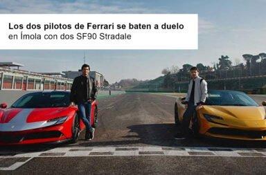 Los dos pilotos de Ferrari se baten a duelo en Ímola con dos SF90 Stradale