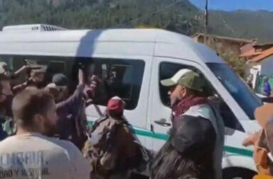 Protestas, incidentes y piedrazos en la llegada de Alberto Fernández a Chubut