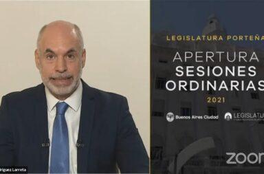 Rodríguez Larreta en la apertura de sesiones legislativas en CABA: