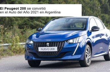 El Peugeot 208 se convirtió en el Auto del Año 2021 en Argentina