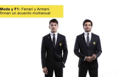 Moda y F1: Ferrari y Armani firman un acuerdo multianual