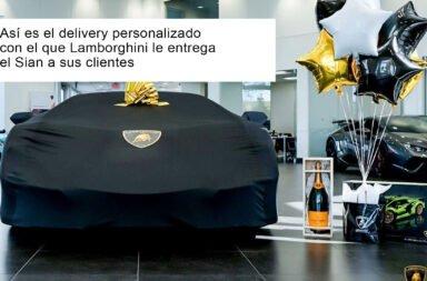 Así es el delivery personalizado con el que Lamborghini le entrega el Sian a sus clientes