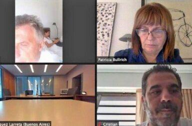 Macri participó desde la cama de un zoom de Juntos por el Cambio y estallaron las redes sociales