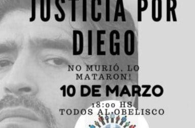 Se realiza una marcha para pedir justicia por Maradona, con la presencia de Dalma y Giannina
