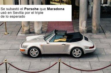 Se subastó el Porsche que Maradona usó en Sevilla por el triple de lo esperado