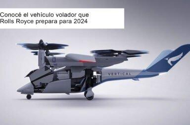 Conocé el vehículo volador que Rolls Royce prepara para 2024