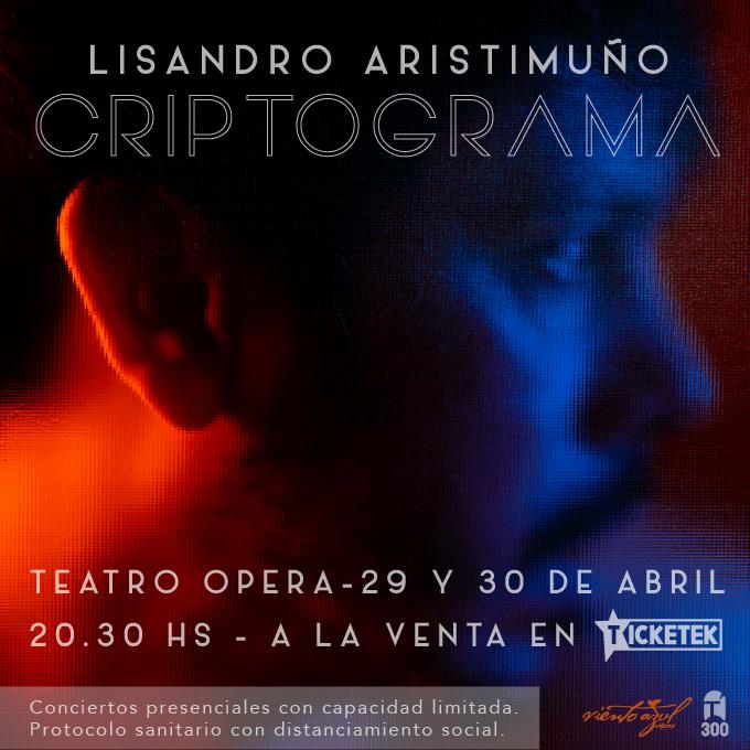 Lisandro Aristimuño presenta oficialmente 'Criptograma'