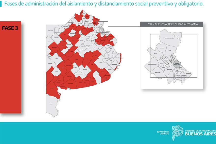 Fases en los 135 municipios: qué se puede hacer y qué no según cada fase