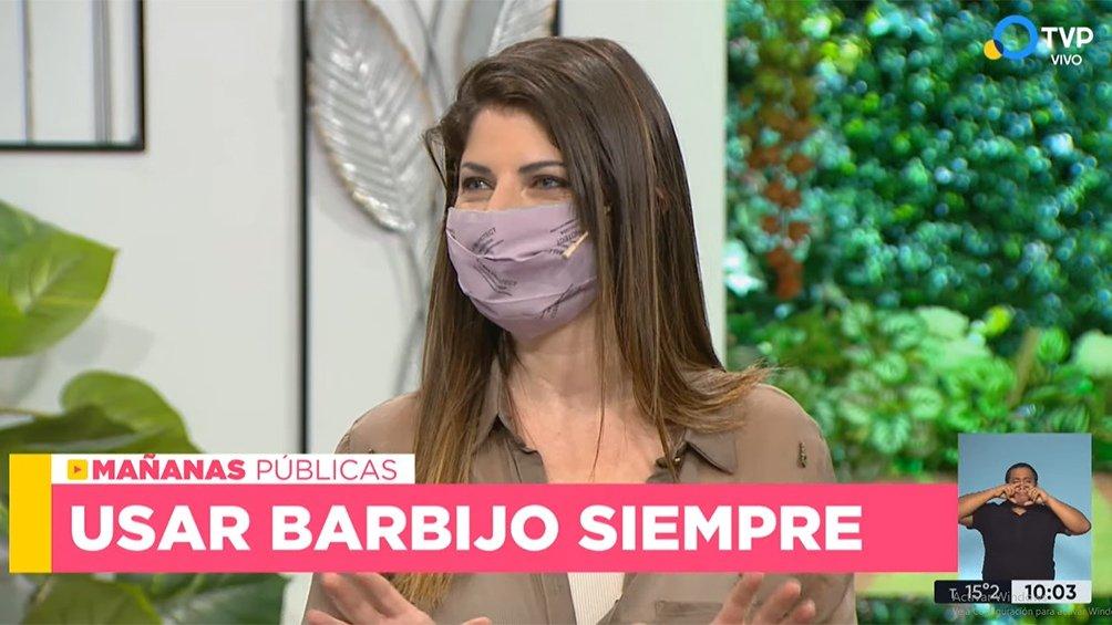 Trabajadores y profesionales de los medios públicos usarán barbijo durante los programas