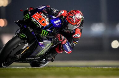 Quartararo brilló en la noche de Doha y se quedó con la victoria en el Moto GP