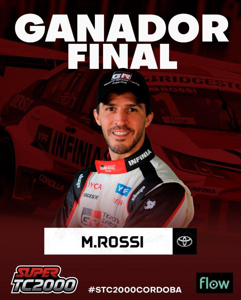 Rossi regresó al Súper TC2000 con una gran victoria en Alta Gracia