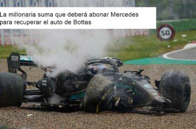 La millonaria suma que debe abonar Mercedes para recuperar el auto de Bottas