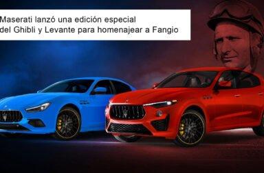 Maserati lanzó una edición especial del Ghibli y Levante para homenajear a Fangio