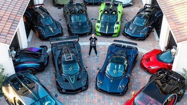Mike Yin, el coleccionista de autos que acaba de agrandar su flota con el Pagani que era de un argentino