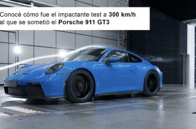 Conocé cómo fue el impactante test a 300 km/h al que se sometió el Porsche 911 GT3