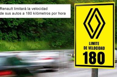 Renault limitará la velocidad de sus autos a 180 kilómetros por hora