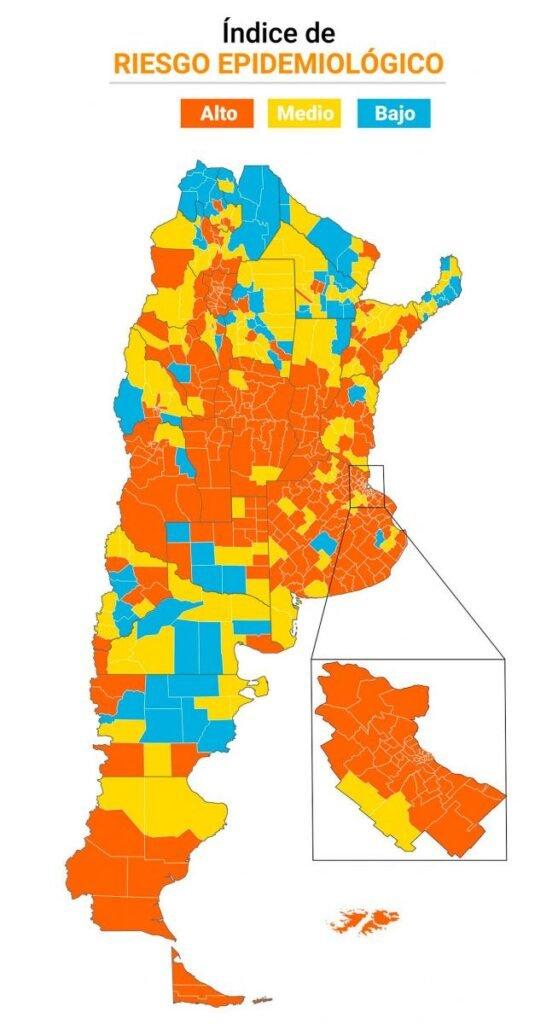 Sigue el aumento de casos de COVID-19: 23 de las 24 jurisdicciones del país se encuentran en alerta roja