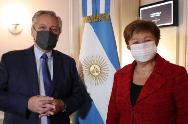 Fernández con Georgieva