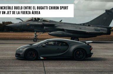 Increíble duelo entre el Bugatti Chiron Sport y un Jet de la fuerza aérea
