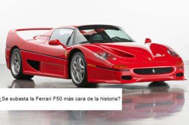 ¿Se subasta la Ferrari F50 más cara de la historia?