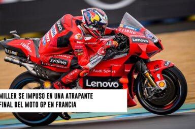 Miller se impuso en una atrapante final del Moto GP en Francia