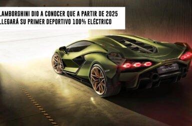 Lamborghini dio a conocer que a partir de 2025 llegará su primer deportivo 100% eléctrico
