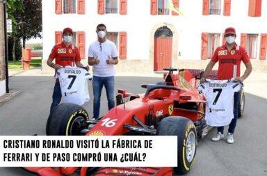 Cristiano Ronaldo visitó la fábrica de Ferrari y de paso compró una ¿Cuál?