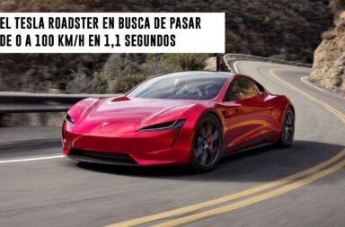 El Tesla Roadster en busca de pasar de 0 a 100 km/h en 1,1 segundos
