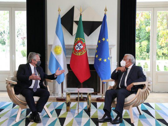 Alberto Fernández en Europa: el Primer Ministro portugués manifestó el apoyo hacia Argentina frente al FMI