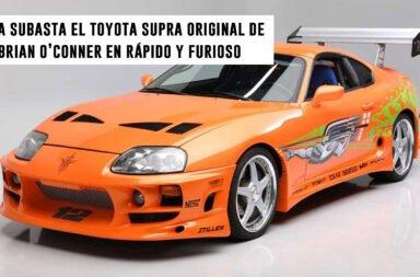 A subasta el Toyota Supra Original de Brian O'Conner en Rápido y Furioso
