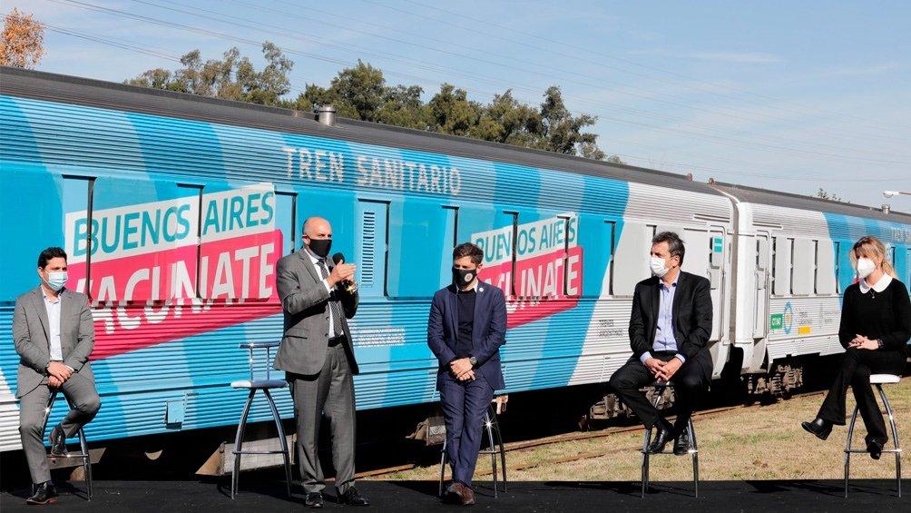 Kicillof, Guerrera y Massa presentaron el tren sanitario