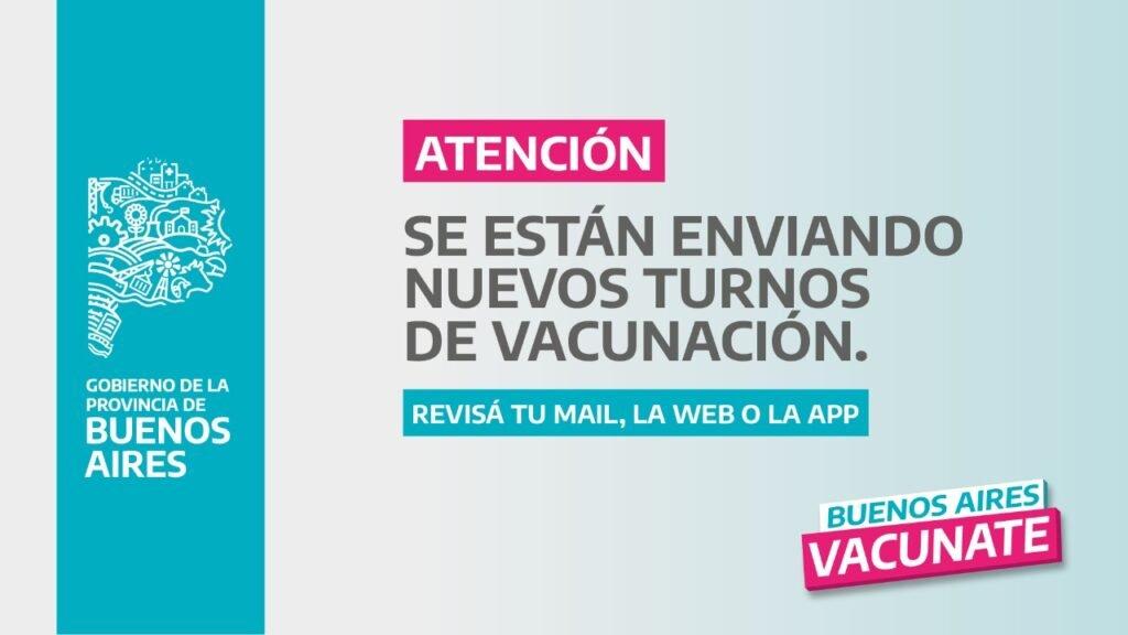 Kicillof anunció 1 millón de nuevos turnos de vacunación en la provincia de Buenos Aires
