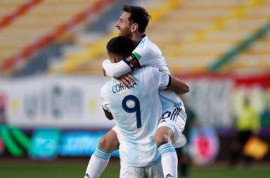 Argentina goleó con un gran Messi