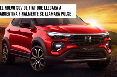El nuevo SUV de Fiat que llegará a Argentina finalmente se llamará Pulse