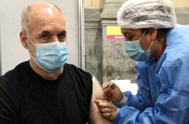 Rodríguez Larreta se vacuno contra el coronavirus